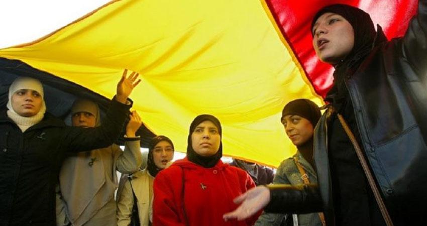 وقفة احتجاجية ضد تعرض فتاة مسلمة لاعتداء عنصري في بروكسل