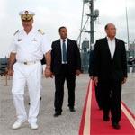 بالصور : زيارة المنصف المرزوقي للقاعدة البحرية الرئيسية ببنزرت