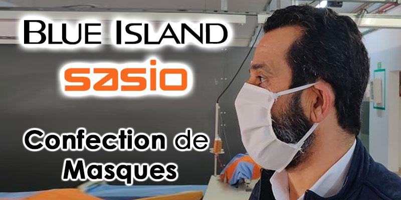 Blue Island et Sasio se mobilisent pour la confection de Masques