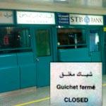 En photos : Fermeture des banques au niveau de l'aéroport
