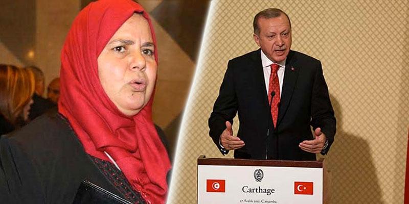Mbarka Brahmi: Erdogan est venu en Tunisie avec un esprit colonialiste