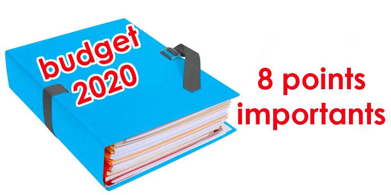 8 points marquants du projet de la Loi de Finances 2020