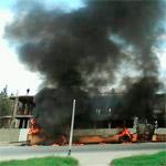 Incendie d'un bus 'Transtu' à Boumhel