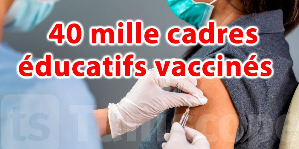 40 mille cadres éducatifs vaccinés