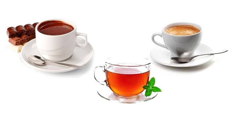 Café, thé et chocolat pour rester jeune