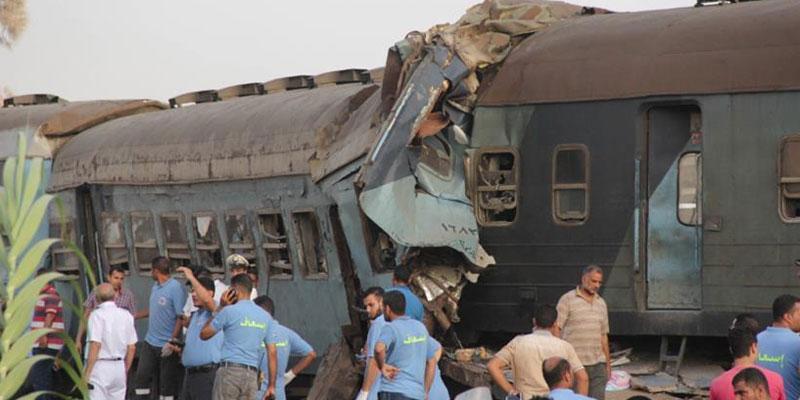 ارتفاع عدد مصابي انقلاب عربات بقطار غربي القاهرة إلى 55