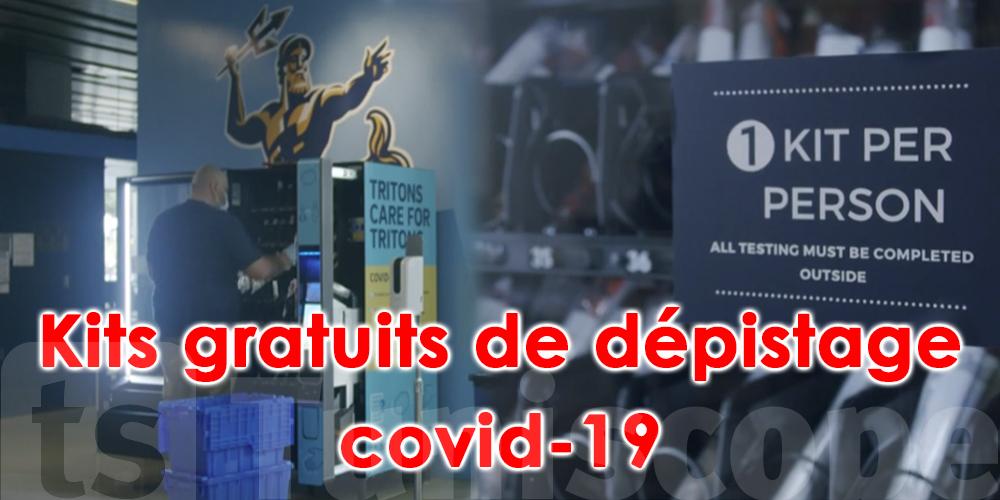 En vidéo :En Californie, des distributeurs de kits gratuits de dépistage du Covid-19