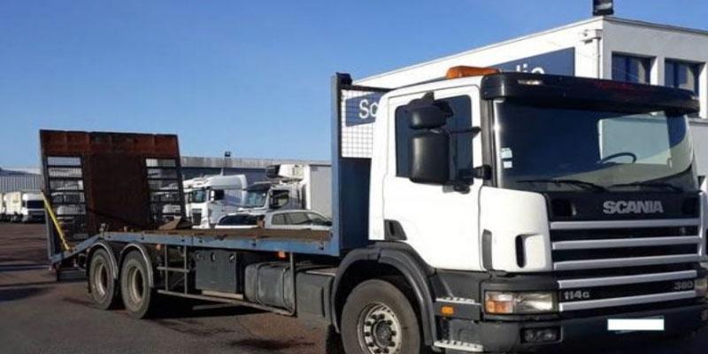 قفصة: حجز شاحنة نقل ثقيل دون وثائق وغير مدرجة بأسطول النقل بالبلاد التونسية