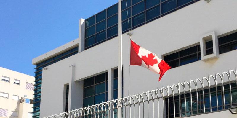 L'ambassade du Canada met en berne son drapeau