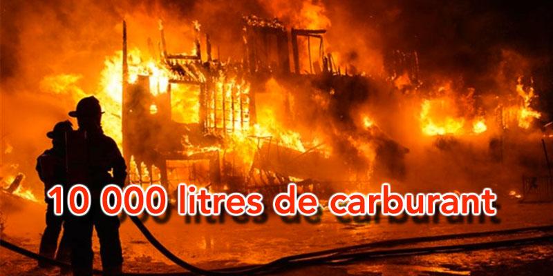 Un incendie dans un dépôt de carburant de contrebande à Kebili