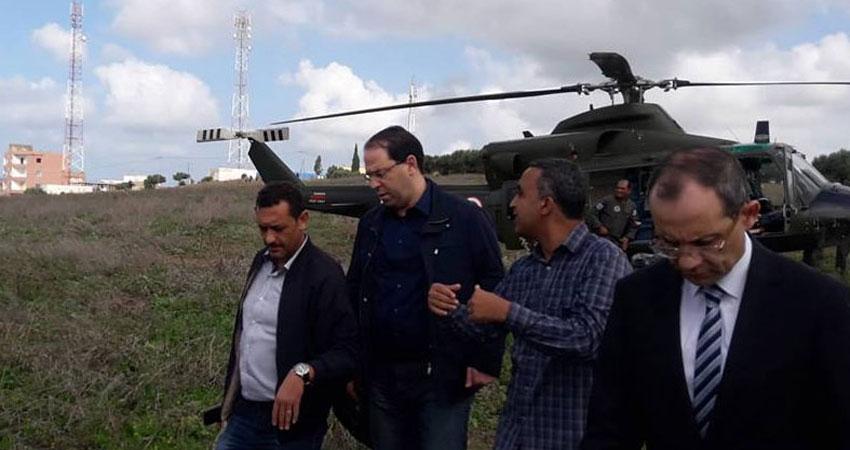رئيس الحكومة ووزير الدفاع يصلان تاكلسة