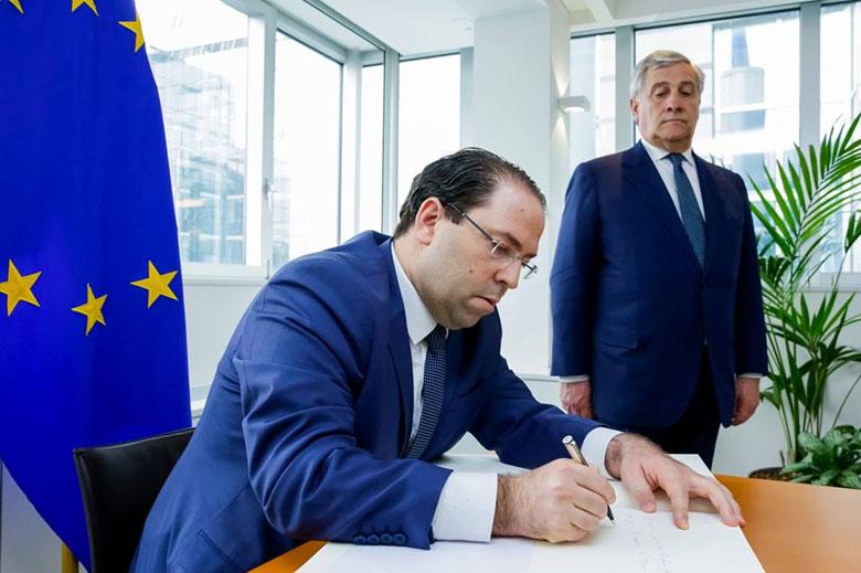 En photos : Youssef Chahed rencontre les membres de la commission des affaires étrangères du Parlement européen
