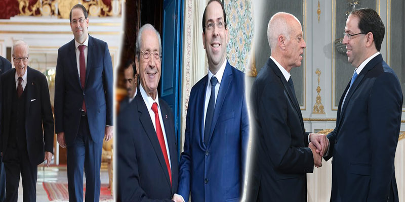 Depuis la mort de BCE, Youssef Chahed a visité le Palais de Carthage 8 fois