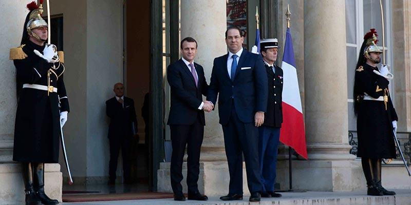 Les principales étapes de sa visite en France évoqués par Youssef Chahed dans un point de presse à l'Elysée <