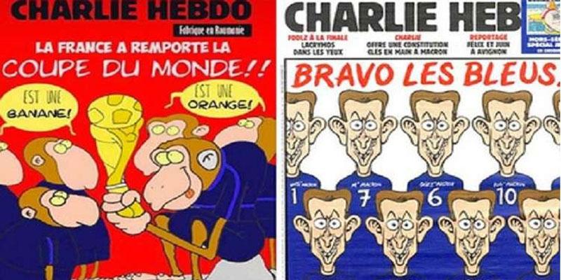 ''شارلي إيبدو'' تشبه لاعبي المنتخب الفرنسي بالقردة