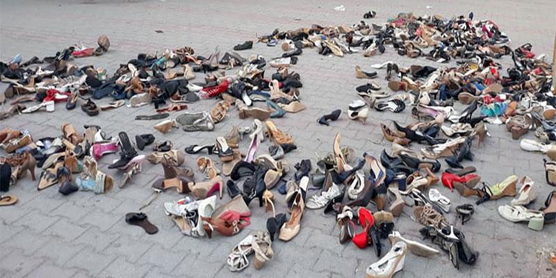 En photos : Les chaussures jonchent les trottoirs à Bab Dzira… <