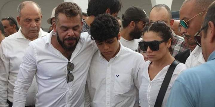 بالصور، صبا مبارك و إبنها و نجوم تونسيون و عرب في جنازة الراحل شوقي الماجري
