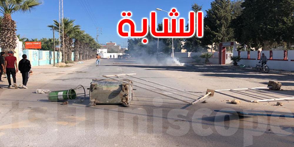 الشابة: تواصل الاشتباكات بين المحتجين وقوات الأمن