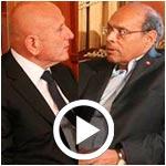 المنصف المرزوقي يلتقي أحمد نجيب الشابي حول الوضع السياسي و الانتخابات