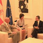 Ahmed Nejib Chebbi accueilli par le chef du gouvernement espagnol Zapatero à Madrid