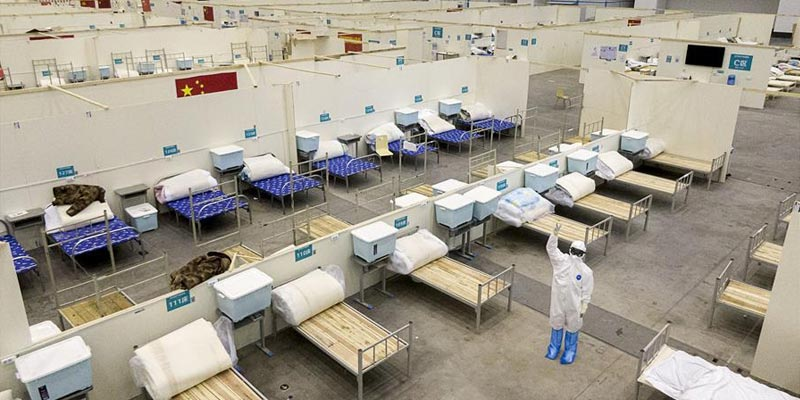 بالفيدو: مستشفى ووهان ينهي أعماله ويغلق رسميا