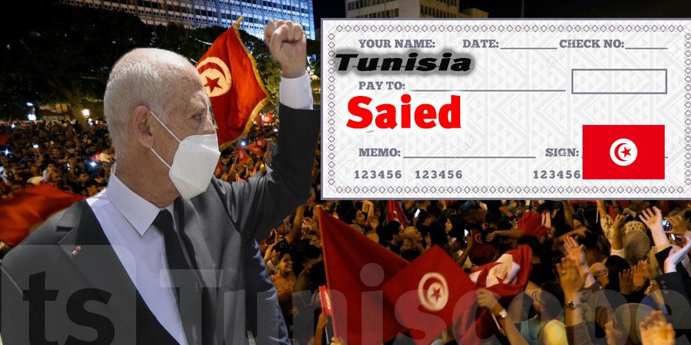 Chèque en blanc des Tunisiens à Saied