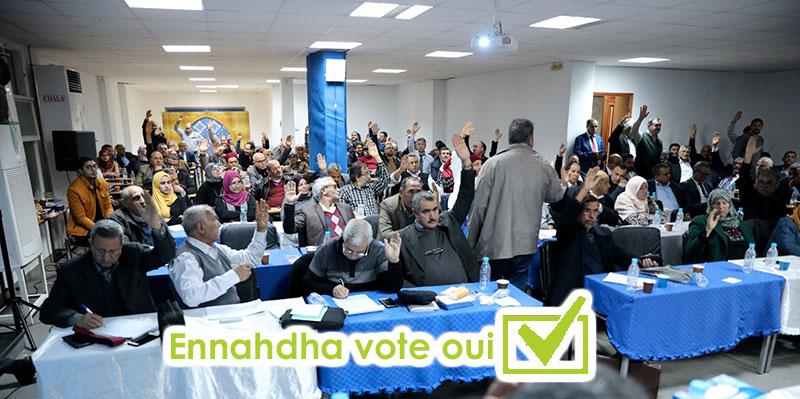 Après validation de la Choura, Ennahdha votera oui