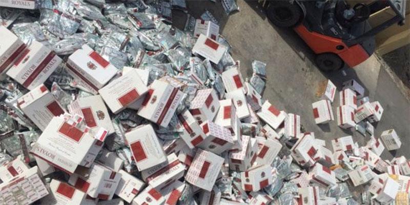 ساقية الزيت : حجز 3590 علبة سجائر من مختلف الأنواع