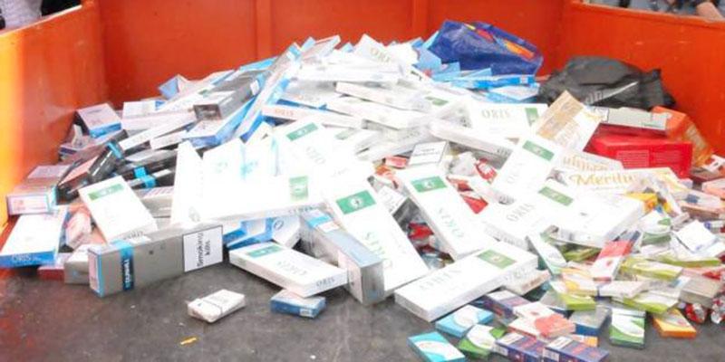 Importantes quantités de cigarettes et du cash saisis par la douane