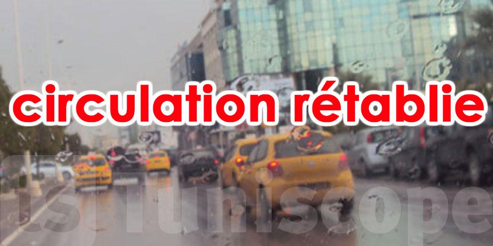 A l'exception de quelques points, la circulation est rétablie dans le grand Tunis