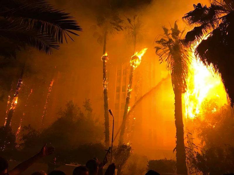 En photos : Grand incendie au niveau de la Cité Olympique