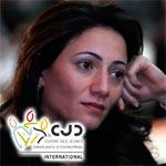 Wafa Makhlouf, première femme à la tête du CJD international prend ses fonctions