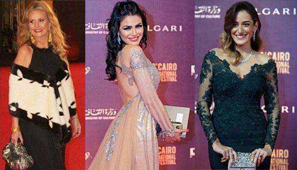 En photos : Les plus belles coiffures de la cérémonie de clôture du festival International du Film du Caire