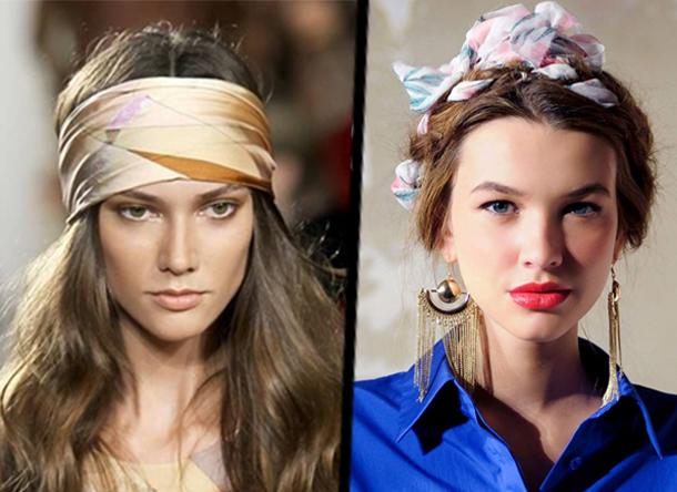 En photos : 5 façons de se coiffer avec un foulard...