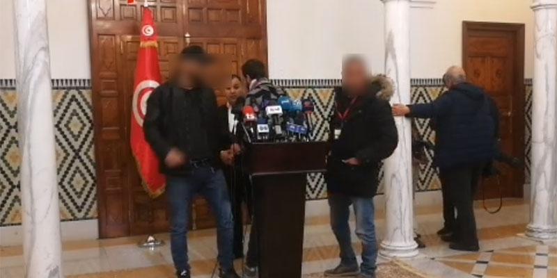 فريق التلفزة الوطنية يعطل إنطلاق الندوة الصحفية للحبيب الجملي