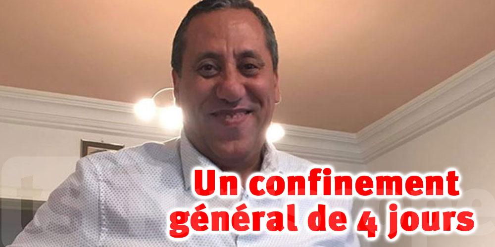 Dr Samir Abdelmoumen préconise un confinement général de 4 jours