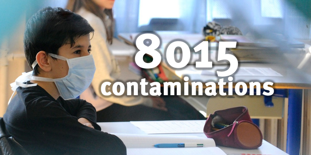 8015 contaminations en milieu scolaire