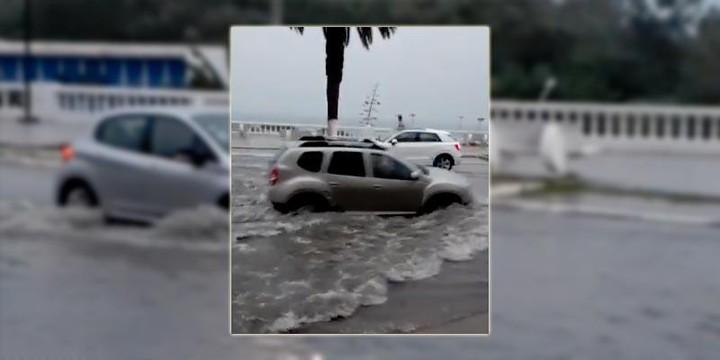En vidéo : La Corniche de La Marsa se transforme en véritable lac