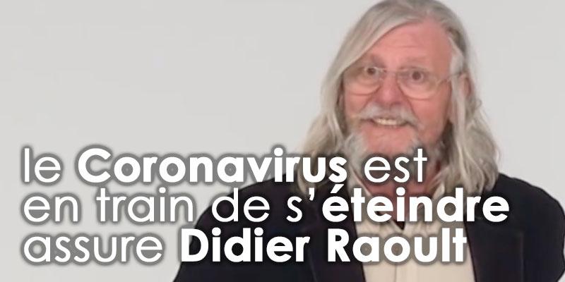 On est en fin de partie dixit Didier Raoult