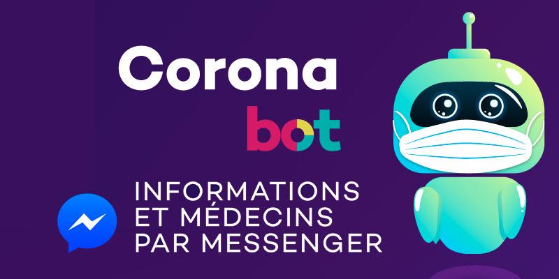 CORONA BOT, le robot qui vous rassure sur Messenger