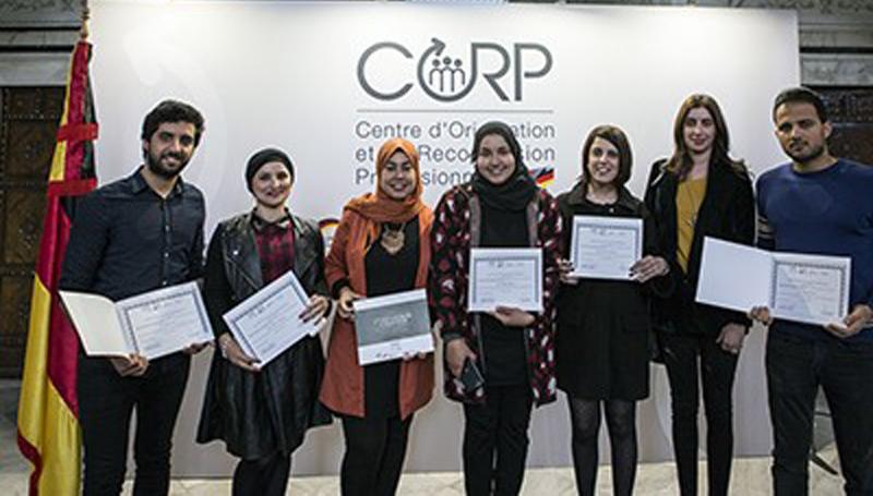 Cérémonie de remise de certificats au profit de 70 jeunes ayant bénéficié d'une reconversion professionnelle