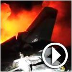 En vidéo : Le crash d'un avion Libyen à Grombalia fait 11 morts