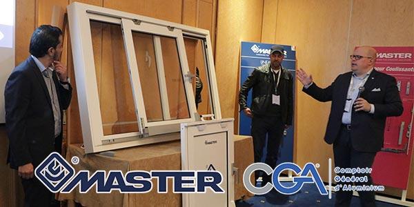 En vidéo: MASTER partenaire officiel de CGA lance son nouveau système de Coulissant à translation SP160