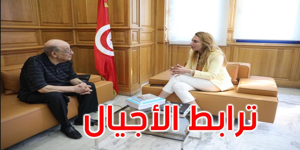 للاستئناس بتجربته: شيراز العتيري تستقبل البشير بن سلامة وزير الثقافة الأسبق