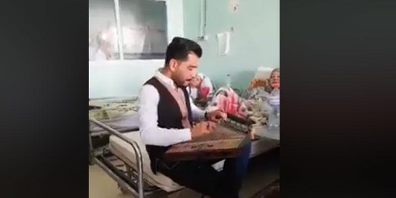 فيديو: شاب يعزف للمرضى في مستشفى شارل نيكول