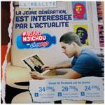 Hakka n3ichou By DANUP : 34.29 % des jeunes tunisiens utilisent Facebbok pour faire de nouvelles connaissances