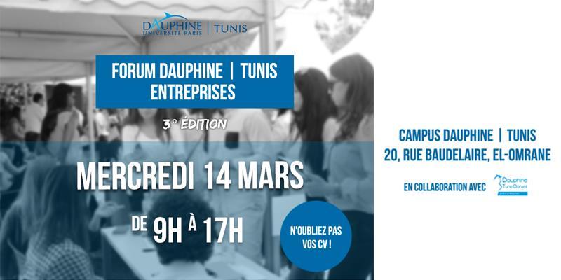 En photos : Troisième édition du Forum Dauphine Tunis Entreprises