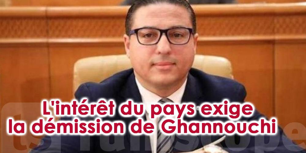 L'intérêt du pays exige la démission de Ghannouchi