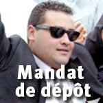 Nouveau mandat de dépôt à l'encontre de Houssem Trabelsi