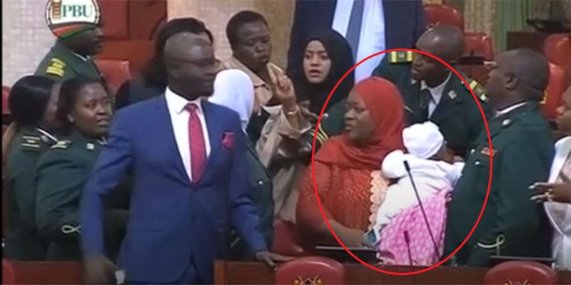 نائبة دخلت البرلمان برضيعها فحدث ما لا يحمد عقباه
